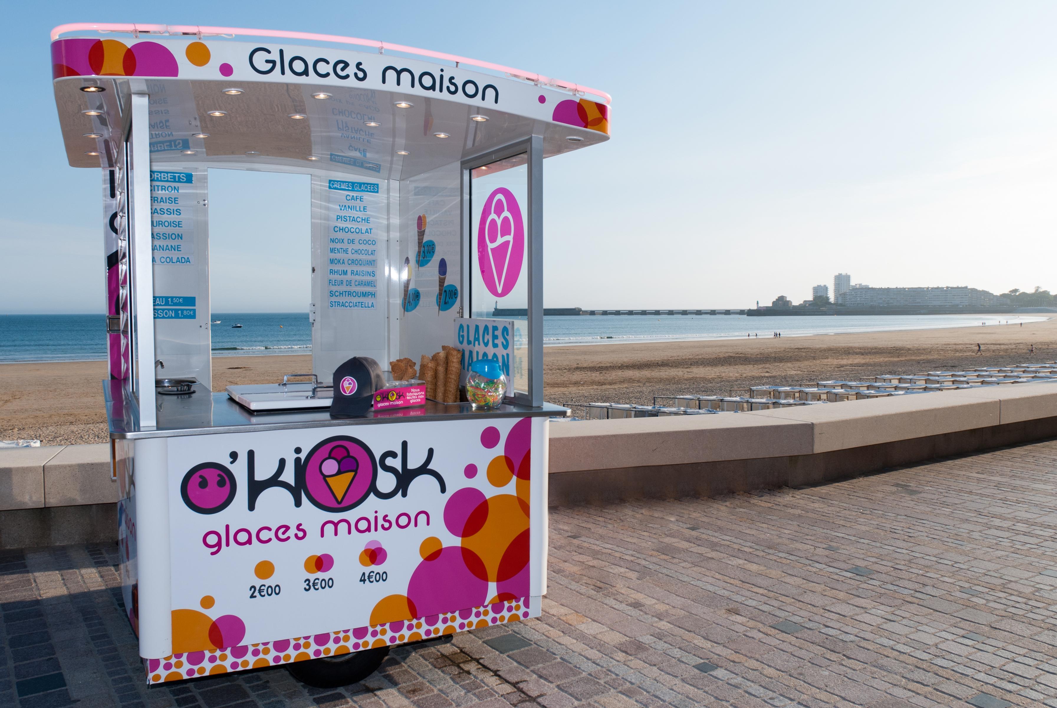 O'kiok : Les meilleures glaces des Sables d'Olonne en kiosque