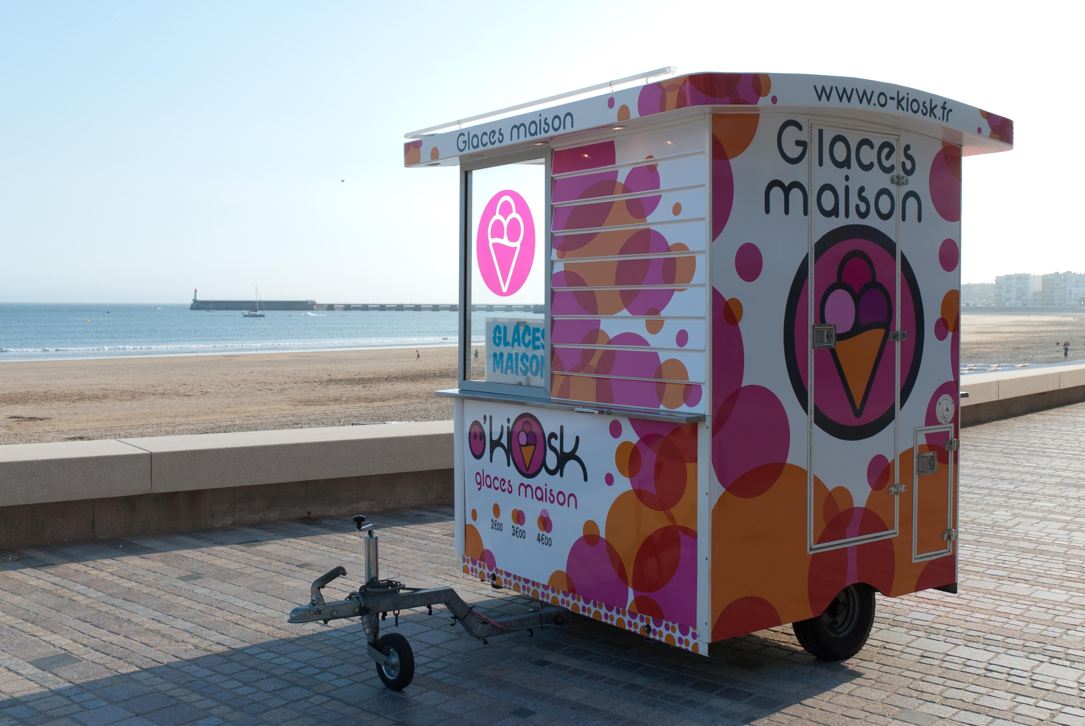 Kiosques de glaces maison aux Sables d'Olonne